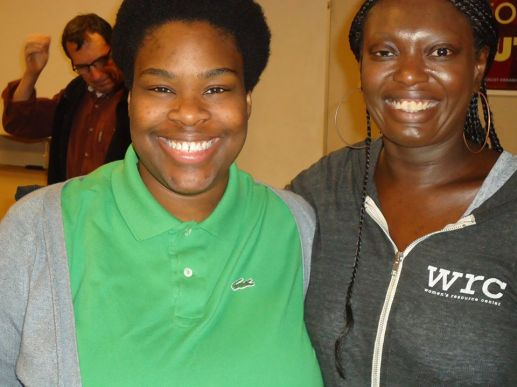 Black feminist activist Nikeeta Slade and Tonya at the Gender Liberation Workshop @ Portland State University 2014.