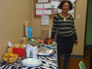 Robin Davis co-organizer of the event and advocate at Bradley Angle for Black women in domestic violeance relationships.
