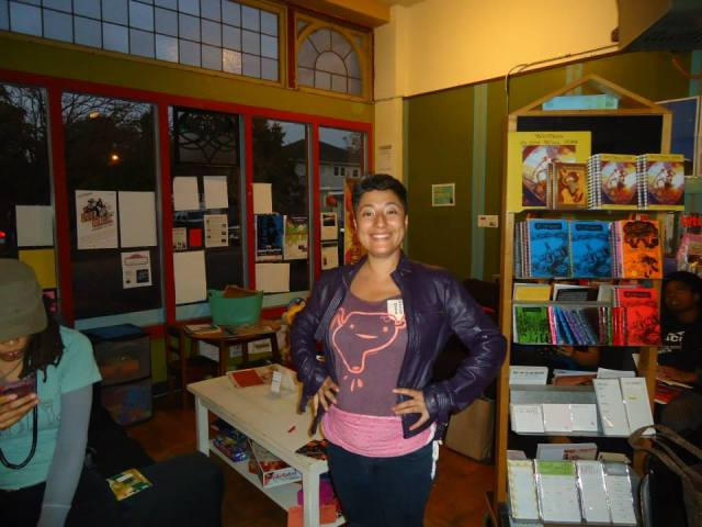 Pati Garcia tour member/zinester/Doula with the POC Zine Project.