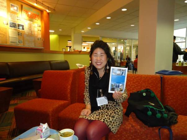 Ann Matsushima Chiu smiles at Lewis & Clark Gender Symposium 2014.