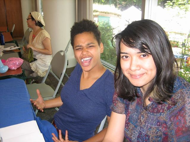 Tablers at the WOC Zine Symposium 2013
