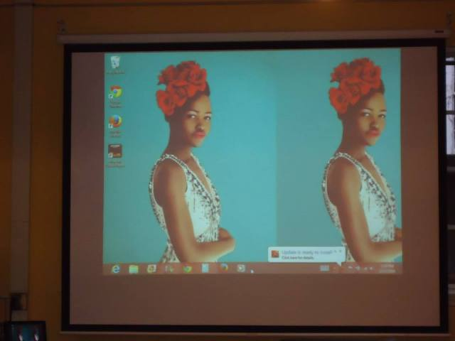 Lupita Nyong'o attended the workshop! (okay, it's just a screensaver :)