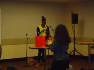 Open-mic at the Women of Color Zine Symposium 2012