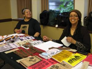 Tablers at the WOC Zine Symposium 2012