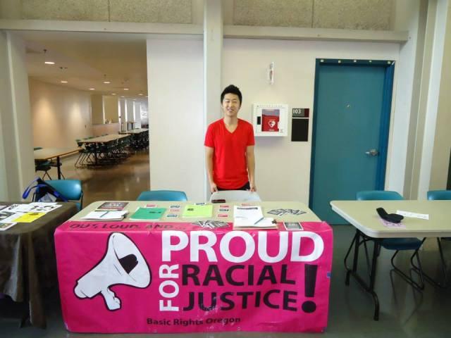 Basic Rights organization tabled at Portland Black Pride Summit 2013