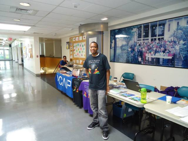 Khalil Edwards organizer of PFLAG at Portland Black Pride Summit 2013. Learn more: http://pflagpdx.org/wordpress/
