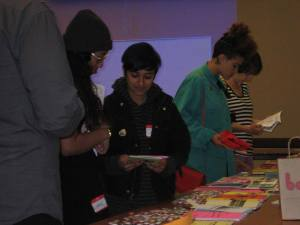 Attendees at the WOC Zine Symposium 2012