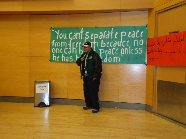 WOC Zine member at Palestinian Cultural Night @ Portland State University.