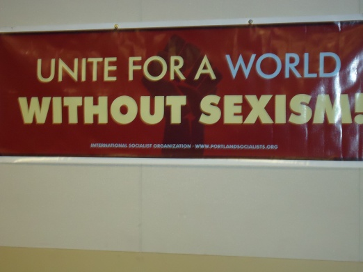 Poster at Gender Liberation Conference.