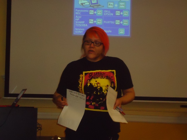 The WOC Zine Workshops enjoyed fellow zinester Going Places presentation at PSU-Women's Resource Center.