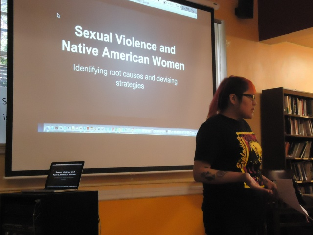 Going Places presented on Sexual Violence and Native American Women.