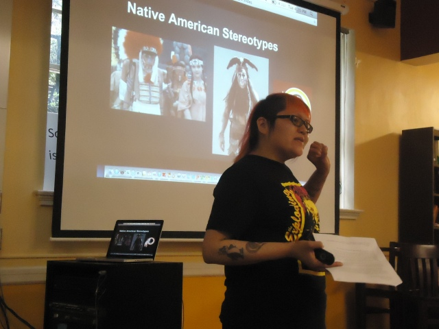 Deconstructing/resisting Native American stereotypes.