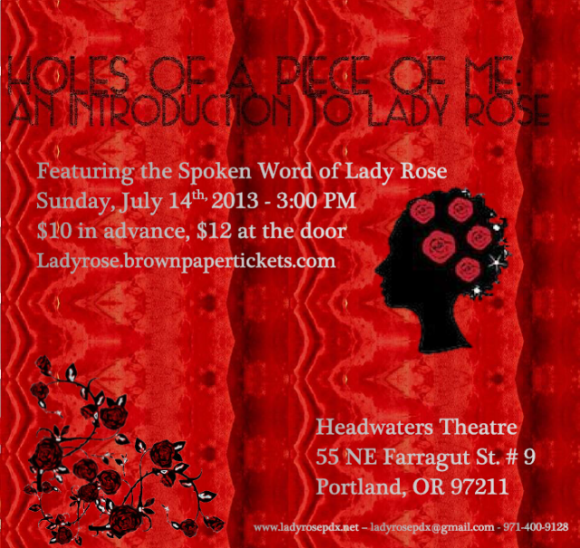 Lady Rose, whose work has been compared to that of Maya Angelou, interweaves imagery of mirrors, Christianity and sensuality into her writing that is both effortless and thought-provoking. She allows her audience to share in her struggle of what it means to be a woman, Black and Christian in the 21st century.