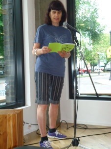 Cathy Camper reads at the event